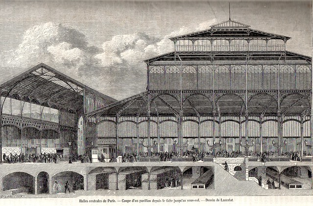 19th century 1862 le magasin pittoresque engraving halles centrales de paris - Magasins les halles paris ...