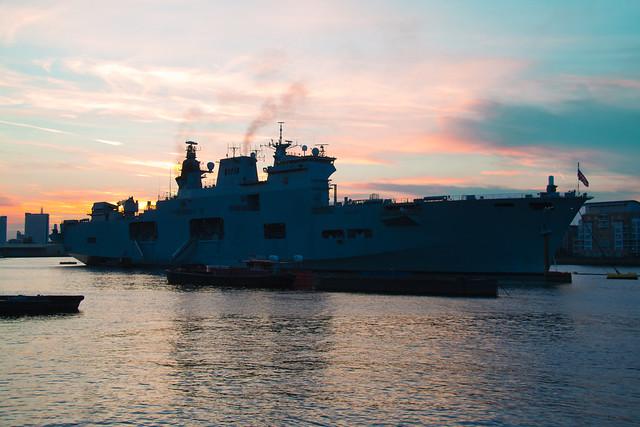 HMS Ocean (photoshopped out a pole)