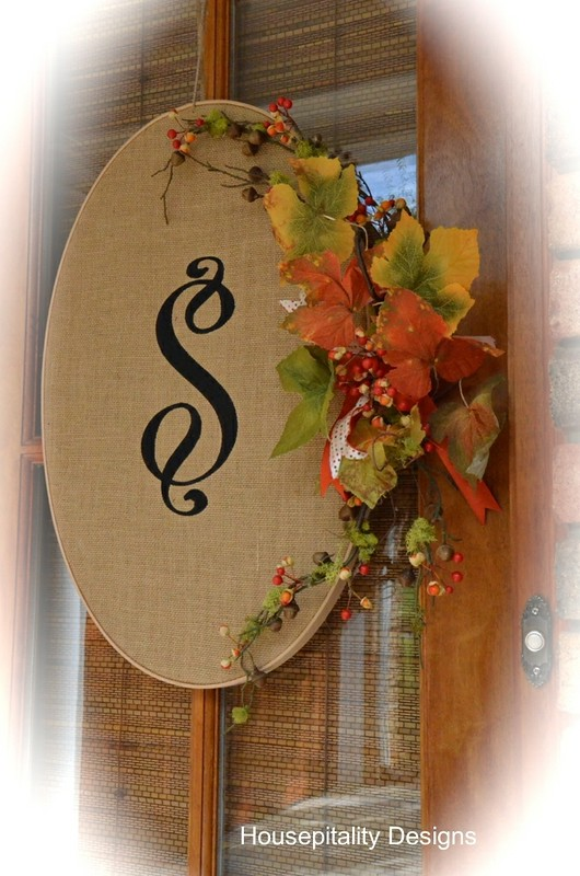 Burlap Monogramed wreath