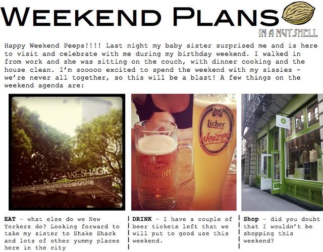 weekend plans 10.5.12