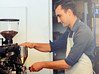 Kyle Glanville at G&B Pop Up Coffee Bar ~ Silverlake, California by R. E. ~