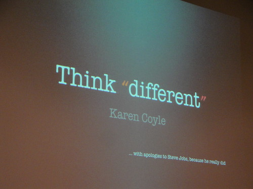 "Think ""different"""
