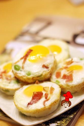 早餐新運動- 8分熟烤雞蛋 oven baked egg 1