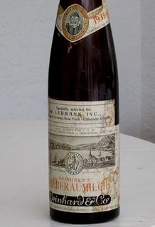 Deinhard Liebfraumilch 1935 (Rhine)