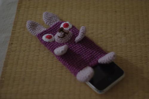 amigurumi#70 bunny iPhone cosy