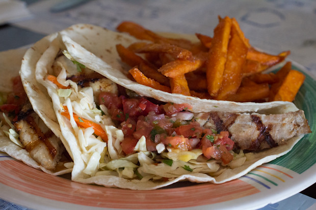 Fish Tacos, Sharky's on the Pier, Venice, FL, Restaurant Review