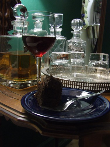 B. Nektar Cherry Chipotle Mead w/ Chocolate Cake