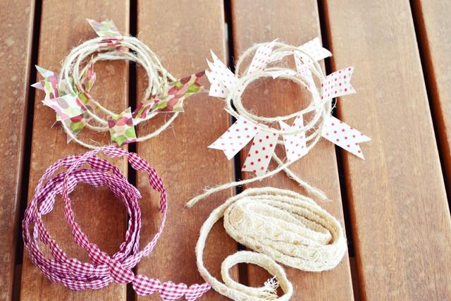como hacer una guirnalda con washi tape y otros materiales (3)