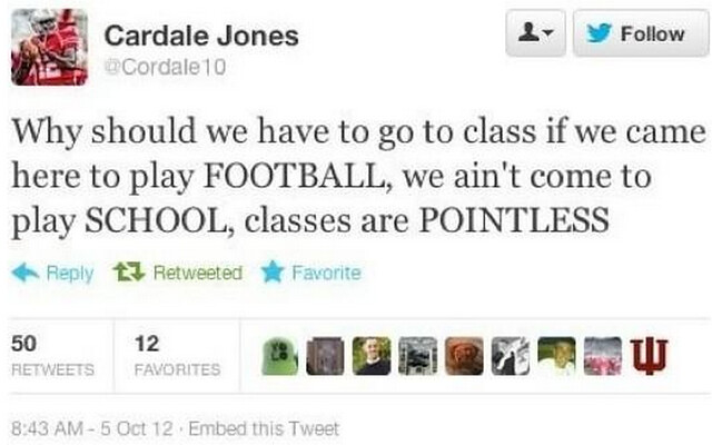 Cardale Jones Ohio State University Twitter