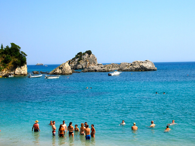 Swimming in Parga, Greece