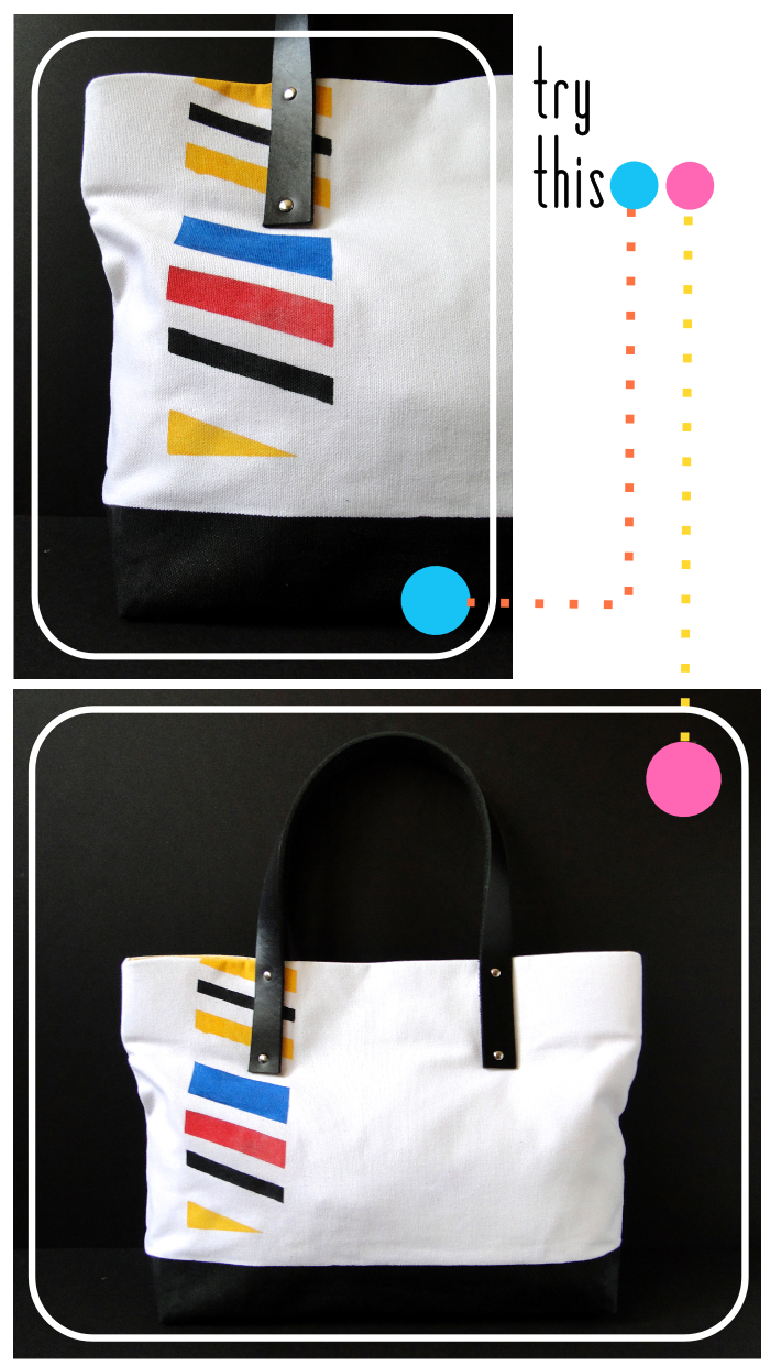 DIY Plastidipped Tote Bag Tutorial by Fabric Paper Glue
