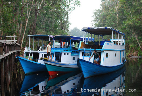 boats at Tanjung Putting National Park Indonesia