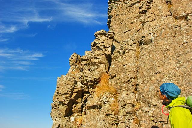 権現岳の岩稜