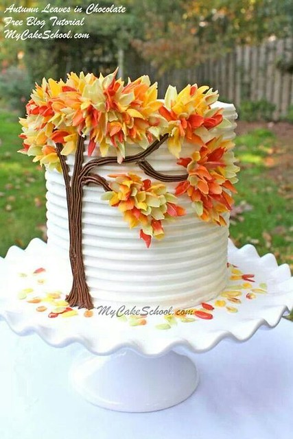 Autumn Leaves in Chocolate by My Cake School