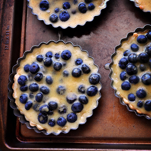 Browned Butter Blueberry Tarts Unbaked