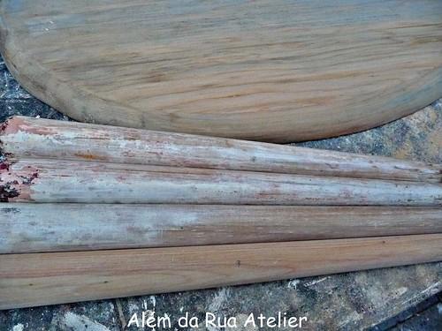 Banco de madeira restaurado - com passo a passo