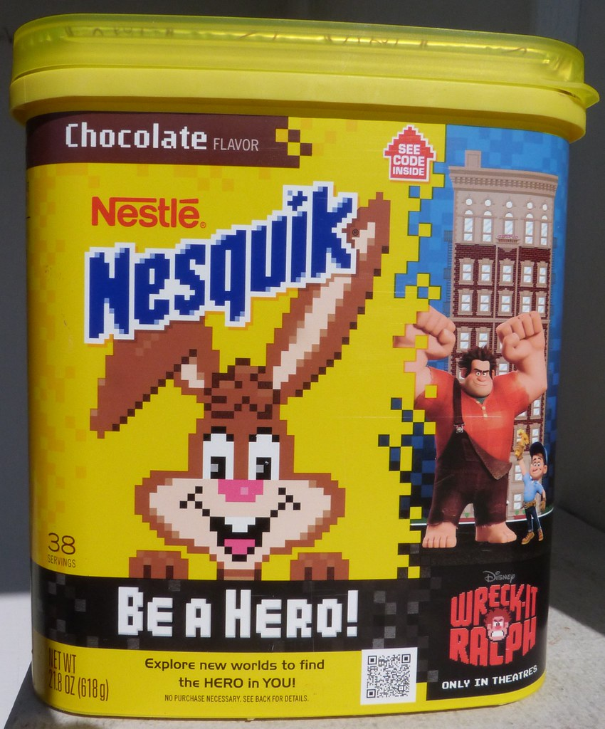 2012 Nestle Nesquik Wreck-It Ralph container