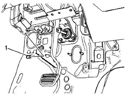 brake booster push rod removal