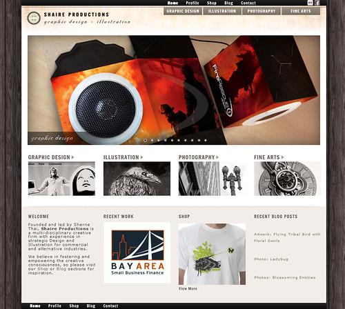 Shaire Productions: Site Redesign, 083112