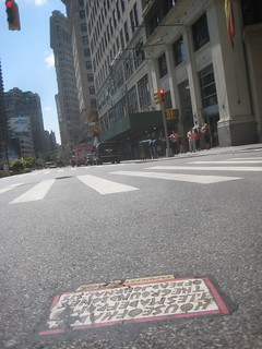 House of Hades Toynbee Tile 2012 NYC 1721