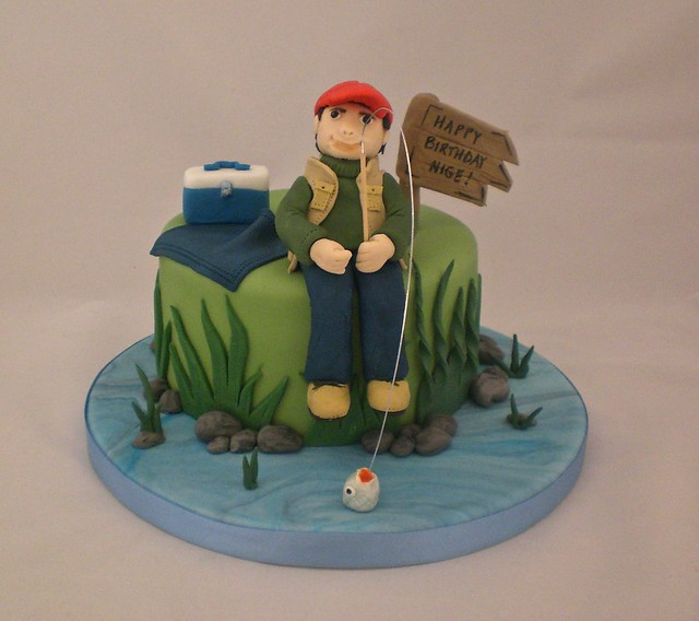 Happy Birthday Fisherman Cake