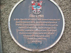 Photo of Ellers Mill blue plaque