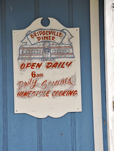 Old Bridgeville Diner Sign