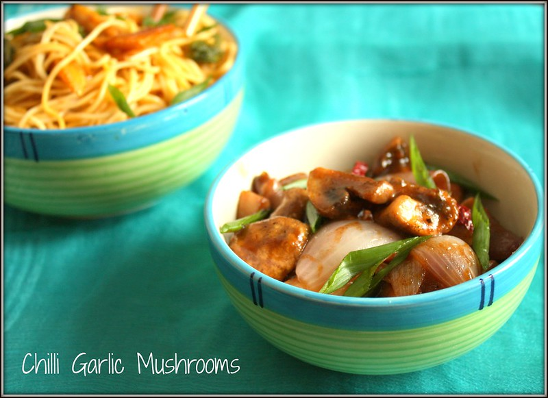 chilli garlic mushrooms