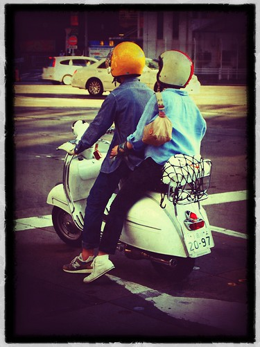 Cool Vespa people in Shibuya by grismarengo2