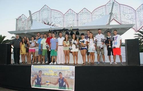 Entrega de trofeo voleyplaya 2012.Melilla