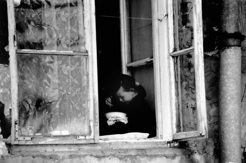 Girl in Window - Lublin, Poland