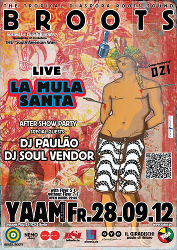 """Fr. 28.09.2012 – BROOTS goes THE """"South American Way"""" by GArRA Berlin"""