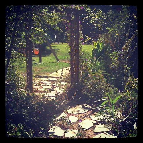 Riotous #garden #homestead. #path #arch #wild