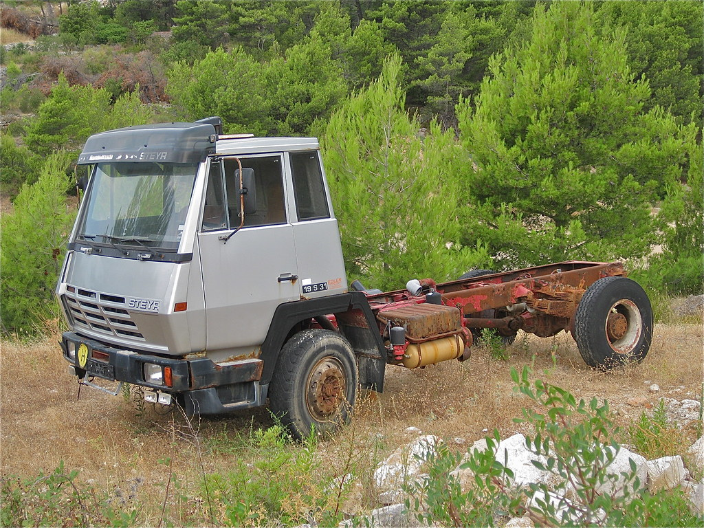 1970s STEYR 19S31, chassis with cabin | Cabin designed by Lo