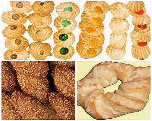 biscotti alle mandorle, reginelle, taralli