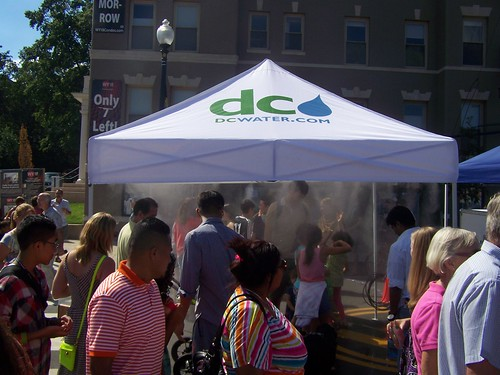 DC Water (WASA) misting tent, Adams Morgan Day Street Festival