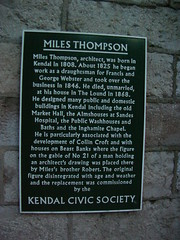 Photo of Miles Thompson, George Webster, and Francis Webster black plaque