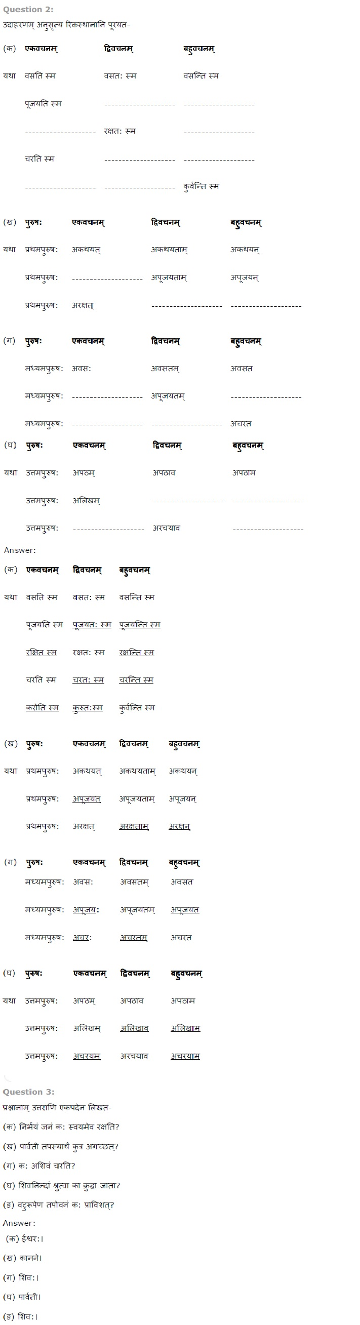 NCERT Solutions For Class 7 Sanskrit Chapter 7 संकल्प सिद्धिदायक PDF Download