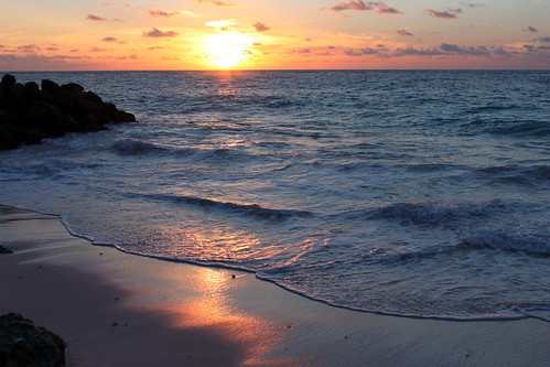 ocean sea sky color beautiful sunrise island barbados