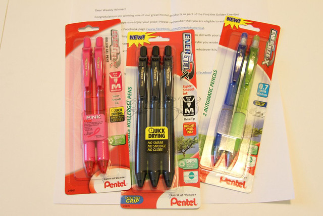 Pentel Weekly Giveaway Win