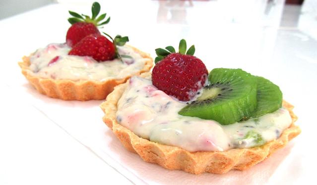 Torta de kiwi e morango
