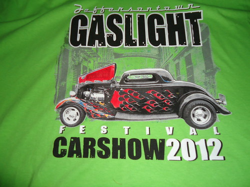 Gaslight Festival J-town 2012 car show T-shirt