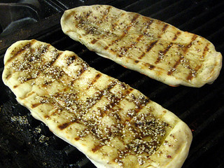 Grilled flat bread from New School of Cooking