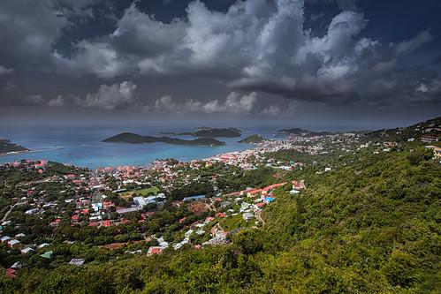 ocean sky clouds island islands foliage caribbean stthomas usvirginislands 1740l leefilters canon5dmarkii