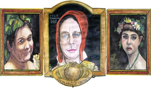 Triptych. Festum  Iuliae cum Bacchus et nympha