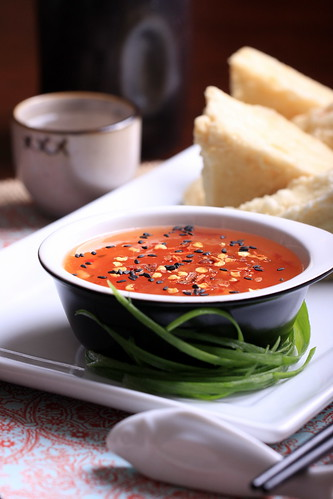 Homemade Thai Sweet Chili Sauce with Fried Tofu