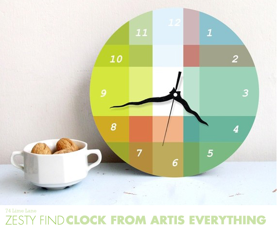 {zesty find} clock by artis everything
