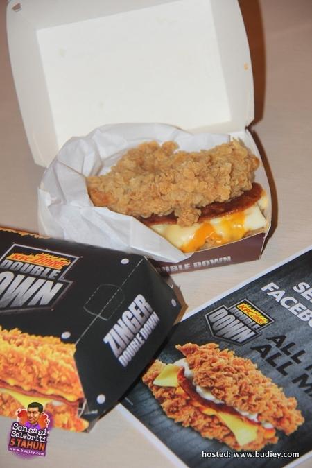 KFC Zinger Burger Double Down