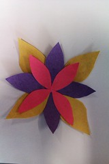 Quick motif using coloured paper