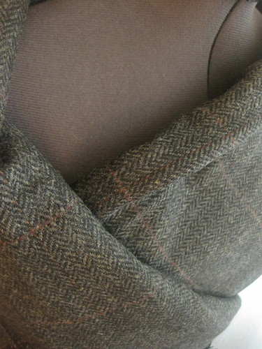 Plaid Wool~ Charcoal Grey and Burgundy